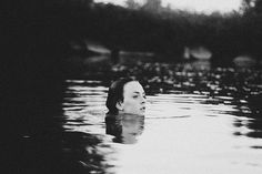 Tess Mayer, swimming #swim #lake #head