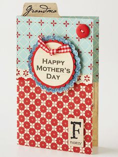 Show Mom (or Grandma) you're thinking of her by making this sweet card: http://www.bhg.com/holidays/mothers-day/cards/cards-for-mom/?socsrc=bhgpin050614patternedpapermothersdaycard&page=5