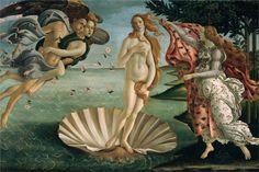 The Birth of Venus, 1485, tempera, Sandro Botticelli
