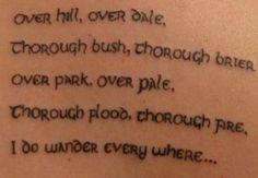 A Midsummer Night's Dream tattoo