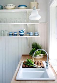 kitchen - wood counter + drain board