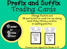 NEW Prefix and Suffix Trading Cards! Two storage pockets and 36 cards provided