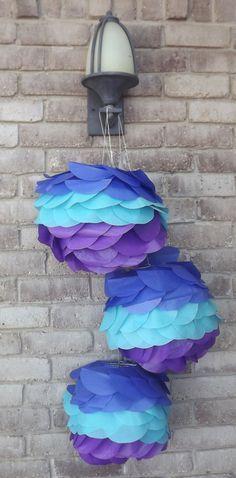 tissue paper lanterns.
