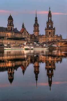 The towers of Dresden in Saxony, Germany (by 1982Chris911).