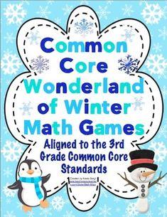 Common Core Wonderland of Winter Math Games Grade 3 $