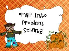 Fall Problem Solving FREEBIE...Do your students know what equation could help them solve a given word problem?