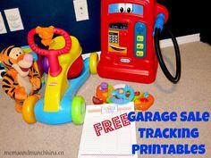 Organizing a Garage Sale (free printables)