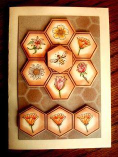#hexagon punch #honeycomb embossing folder #stampin up