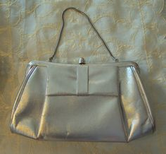 Vintage 1960s Silver Evening Bag, from RetroRosiesVintage on Etsy