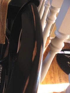 Easy to follow tutorial on refinishing furniture in a black distressed look.