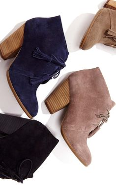 Soft suede lace up bootie