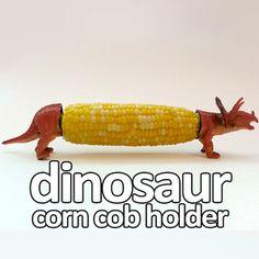 dinosaur corn cob holder