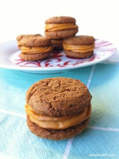 Ginger Snap Cookies with Pumpkin Cheesecake Buttercream (vegan and gluten-free)* This recipe is gluten free, dairy free, vegan, all-natural, easy, creamy and heavenly! http://www.damyhealth.com/2012/10/ginger-snap-cookies-with-pumpkin-cheesecake-buttercream-vegan/