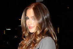 brunette hair color inspiration with caramel highlights