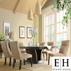 ETHAN HOME Charles 7-piece Contemporary Dining Set | Overstock.com  $1250