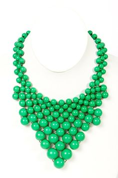 Kelly Green Bauble Necklace