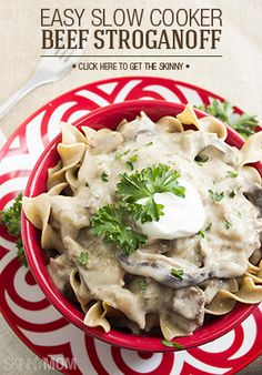 Beef Stroganoff made easy and low cal.
