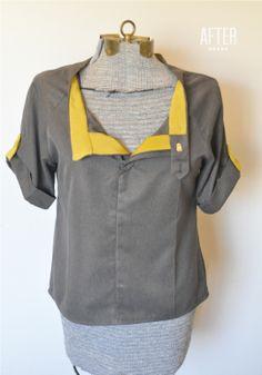 blouses, trousers, refashion swap, refashion pants, trouser refashion