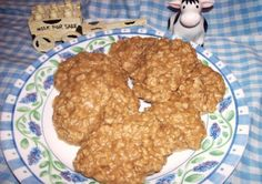 Peanut Butter No Bake Cookies from Food.com: Posted in response to a request, I got this recipe from a lady at church who make them for Bible School in the 1980s. I had made chocolate no-bake cookies for YEARS but had never heard of peanut butter no bake cookies. So delicious that my choco-holic daughter likes them better than the chocolate variety!