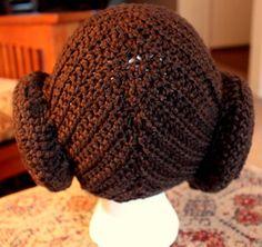 Princess Leia hair hat, crochet