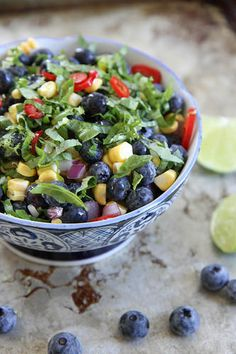 Blueberry, Corn and Basil Salsa by Heather Christo
