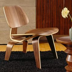 plywood chair, mold plywood, eames, walnut, lounge chairs