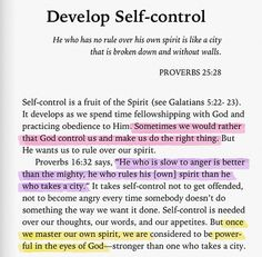 Develop Self-Control