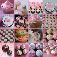 Baby girl shower cupcakes
