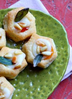 Perfect #Thanksgiving #appetizer #recipe : Apricot- Brie Bites with Crispy Sage