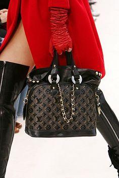 louisvuitton, fashion, thigh high, red, purs