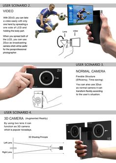 2Duo concept camera features Dual Lens and Dual LCDs so that you can get maximum perfection out of your photography. Self-portraits or 3-D kinda pics, this camera helps you do all sorts of things to make you trigger-happy.