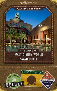 Walt Disney World Planning Pins: Swan Hotel