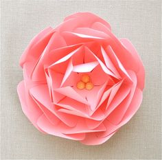 The Amelia Series paper peony place setting gift by imeondesign. beautiful!