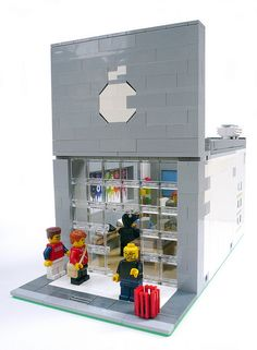 apple store's lego. complete with steve jobs figure!