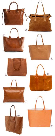 Stalking the perfect classic leather tote.