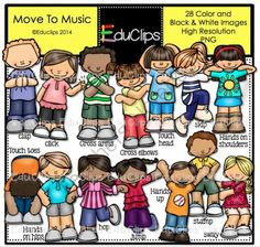 Move To Music Clip Art Bundle from Educlips on TeachersNotebook.com -  (28 pages)  - Move To Music Clip Art Bundle