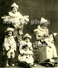 family of clowns