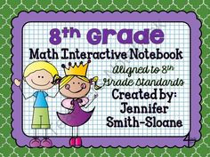 8th Grade Interactive Notebook Bundle- All Standards from 4mulaFun on TeachersNotebook.com -  (300 pages)  - 8th Grade Interactive Notebook Bundle- All Standards