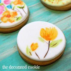 Painting Watercolors on Cookies
