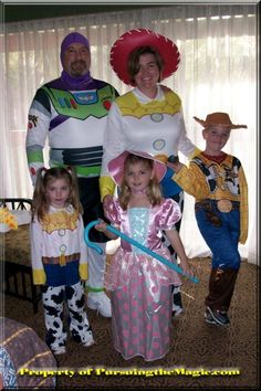 Family in Costumes for Mickey's Not So Scary Halloween Party