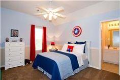 Room ideas on pinterest captain america superhero room for Captain america bedroom ideas
