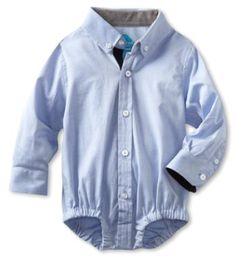Baby boy oxford onesie!