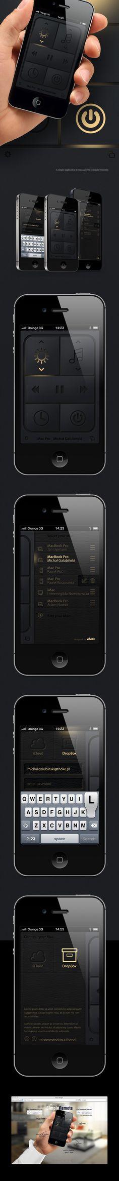 simple mac remote by Michal Galubinski, via Behance