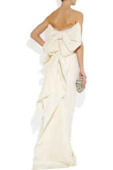 Lanvin|Crystal-embellished silk-faille gown|NET-A-PORTER.COM