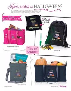Whooo loves Halloween. Make sure to get your Thirty-One Happy OWL-loween Icon-It! They are adorable!