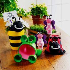 Flower pot craft Mother's Day idea