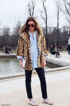 Leopard coat.
