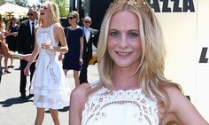 Poppy Delevingne dazzles (in adorable lacy white dress) at Victoria Derby Day