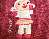 Doc McStuffins Hand Towel Set (one of Lambie and one of Doc). $25.00, via Etsy.
