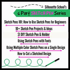 Silhouette School: $1 DIY (Silhouette) Sketch Pen and Holder